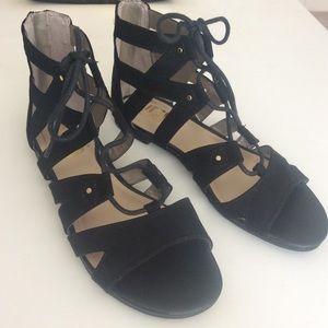 Sam Edelman Black Gladiator Sandal 6.5